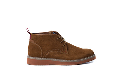 Camel Suede Men Ankle Boots